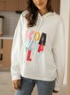 White Cotton-Blend Paneled Holiday Letter Shirts & Tops