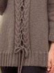 Gray Plain Vintage Cotton-Blend Shift Sweater