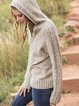 Gray Cotton-Blend Long Sleeve Outerwear