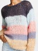 Multicolor Cotton-Blend Long Sleeve Sweater
