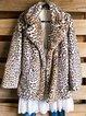 Leopard Casual Long Sleeve Outerwear