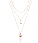 Moon multilayer pendant necklace necklace