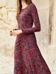 Plus size Casual Long Sleeve Holiday Dresses
