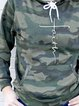 Long Sleeve Cotton-Blend Casual Camo Shirts & Tops