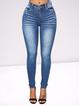Simple Slim Stretch Blue Jeans
