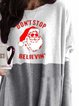 Gray Casual Christmas Snowman Shirts & Tops