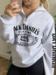 Monogrammed Long Sleeve Zipper Hoodie