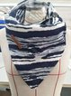 Striped Simple & Basic Buttoned Scarves & Shawls