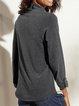 Gray Paneled Long Sleeve Shirts & Tops