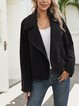 Black Shawl Collar Casual Paneled Outerwear