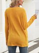 Yellow V Neck Casual Shirts & Tops