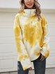 Yellow Long Sleeve Paneled Cotton-Blend Shirts & Tops