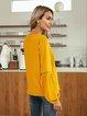 Yellow Long Sleeve Paneled Casual Shirts & Tops