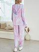 Blue Casual Paneled Cotton-Blend Suits