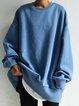 Blue Cotton-Blend Vintage Shift Shirts & Tops