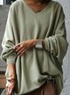 Green Casual Cotton-Blend Shirts & Tops