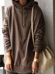 Brown Casual Shift Cotton-Blend Shirts & Tops