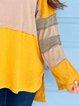 Yellow Cotton-Blend Casual Plain Shirts & Tops