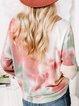 Pink Crew Neck Long Sleeve Shirts & Tops