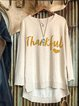 Crew neck solid color casual print Thanksgiving comfortable autumn / winter top