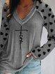Gray Casual Shift Shirts & Tops