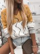 V-Neck Hollowed-Out Matching Color Loose Fashion Pullover Knitwear
