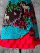 Blue Red Vintage A-Line Skirts