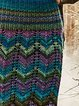 Blue Sheath Vintage Knitted Skirts