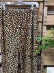 Leopard Cotton-Blend Pants