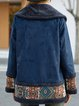 Blue Vintage Tribal Long Sleeve Outerwear