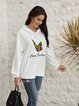 White Cotton-Blend Long Sleeve Shirts & Tops