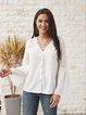 Gray Paneled Long Sleeve Casual Shirts & Tops