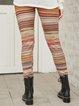 Yellow Cotton-Blend Tribal Paneled Pants
