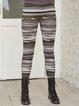 Gray Paneled Boho Tribal Cotton-Blend Pants
