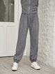 Deep Gray Paneled Plain Holiday Pants