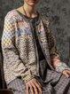 Multicolor Vintage Long Sleeve Outerwear