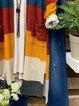 Multicolor Geometric Cotton-Blend Long Sleeve Outerwear