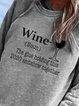Vintage Long Sleeve Crew Neck Letter Printed Plus Size Statement Casual Sweatshirt Tops