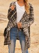 Gray Paneled Cotton-Blend Long Sleeve Outerwear