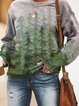 Plus Size Crew Neck Tribal Vintage Shirts & Tops