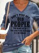 Don't Piss Off Old People  Women's V-neck Long Sleeve Sweatshirt
