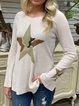 Apricot Casual Star Long Sleeve Shirts & Tops
