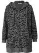 Gray Pockets Shift Casual Zebra Outerwear