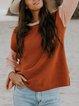 Brown Shift Long Sleeve Cotton-Blend Sweater