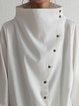 Turtleneck Cotton Holiday Plain Shirts & Tops