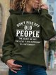 Vintage Hoodie Long Sleeve Don't Piss Off Old People Letter Printed Plus Size Casual Sweatshirt