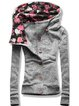 Vintage Floral Hoodie Printed Long Sleeve Plus Size Buttoned Statement Casual Outwear