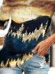 Plus Size Vintage Floral-Print Long Sleeve Shirts & Tops