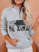 Gray Women's Fashion Print Sweatshirt
