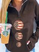 Stand-up collar thick and comfortable long-sleeved fun printed sweater